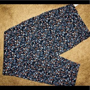 Floral Pants - Gap NWT Women 12 Ankle